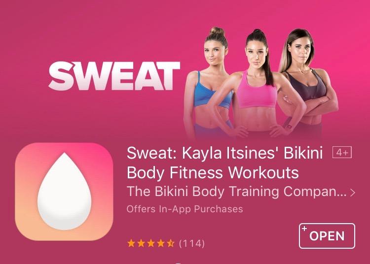 30 dni ZA DARMO w aplikacji Sweat/Kayla Itsines