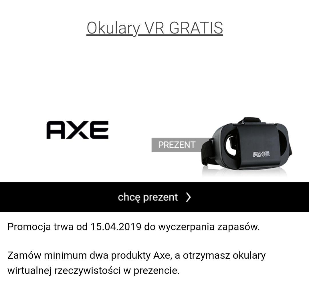 Darmowe okulary VR do dwóch produktów AXE na iperfumy.pl