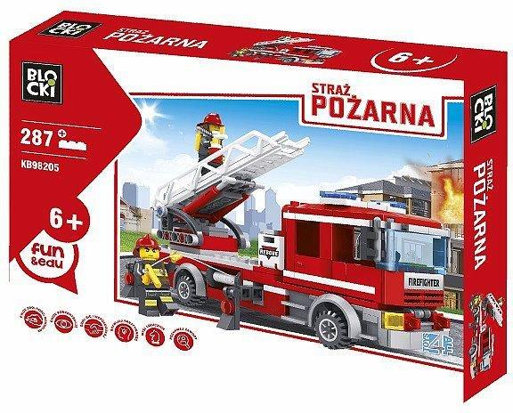 Klocki Blocki - Wóz strażacki z drabiną 287elem. za 22,99zł @ HulaHop