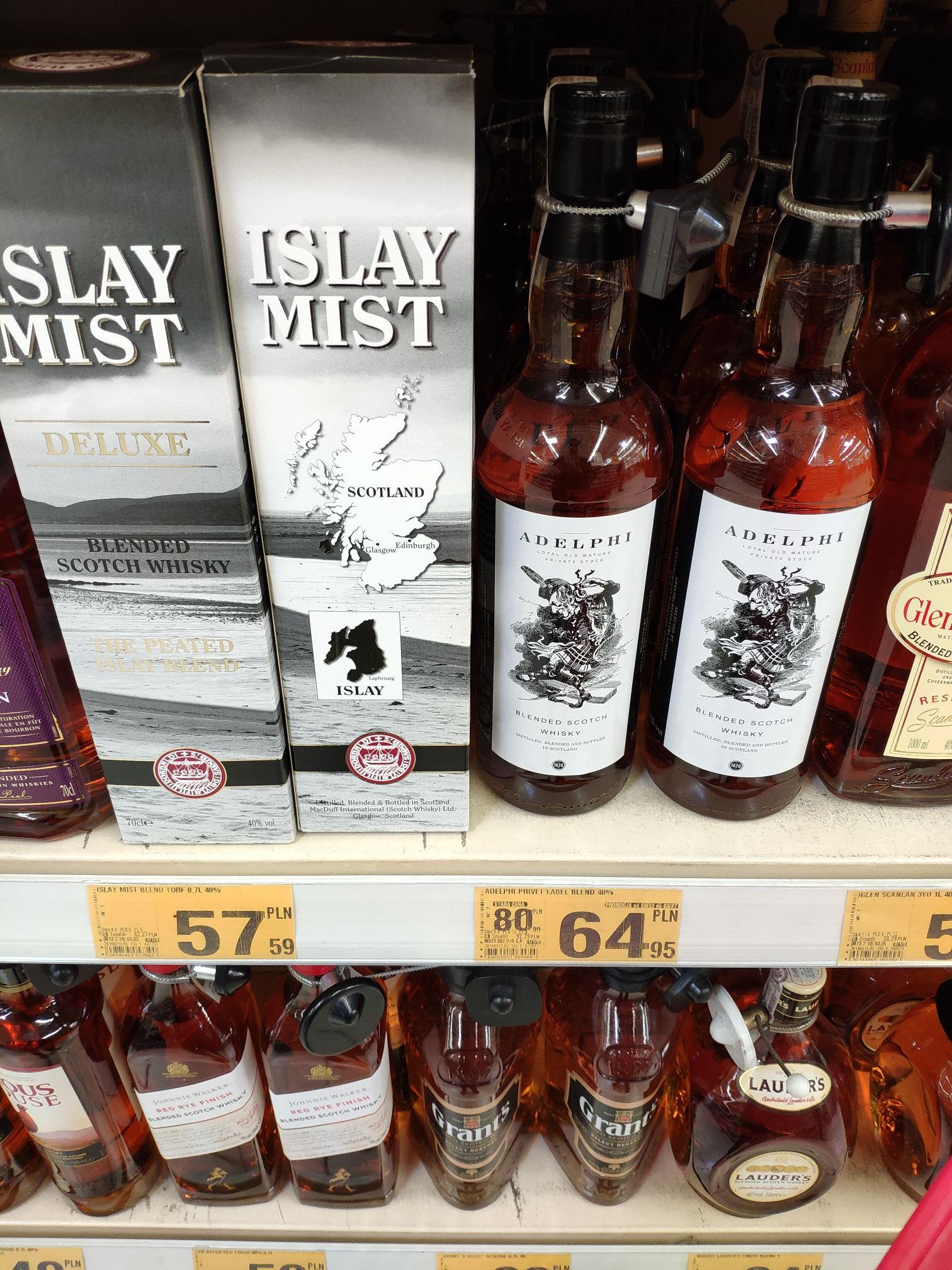Adelphi Blended Scotch Whisky 0,7L - Auchan Bielany Wrocławskie