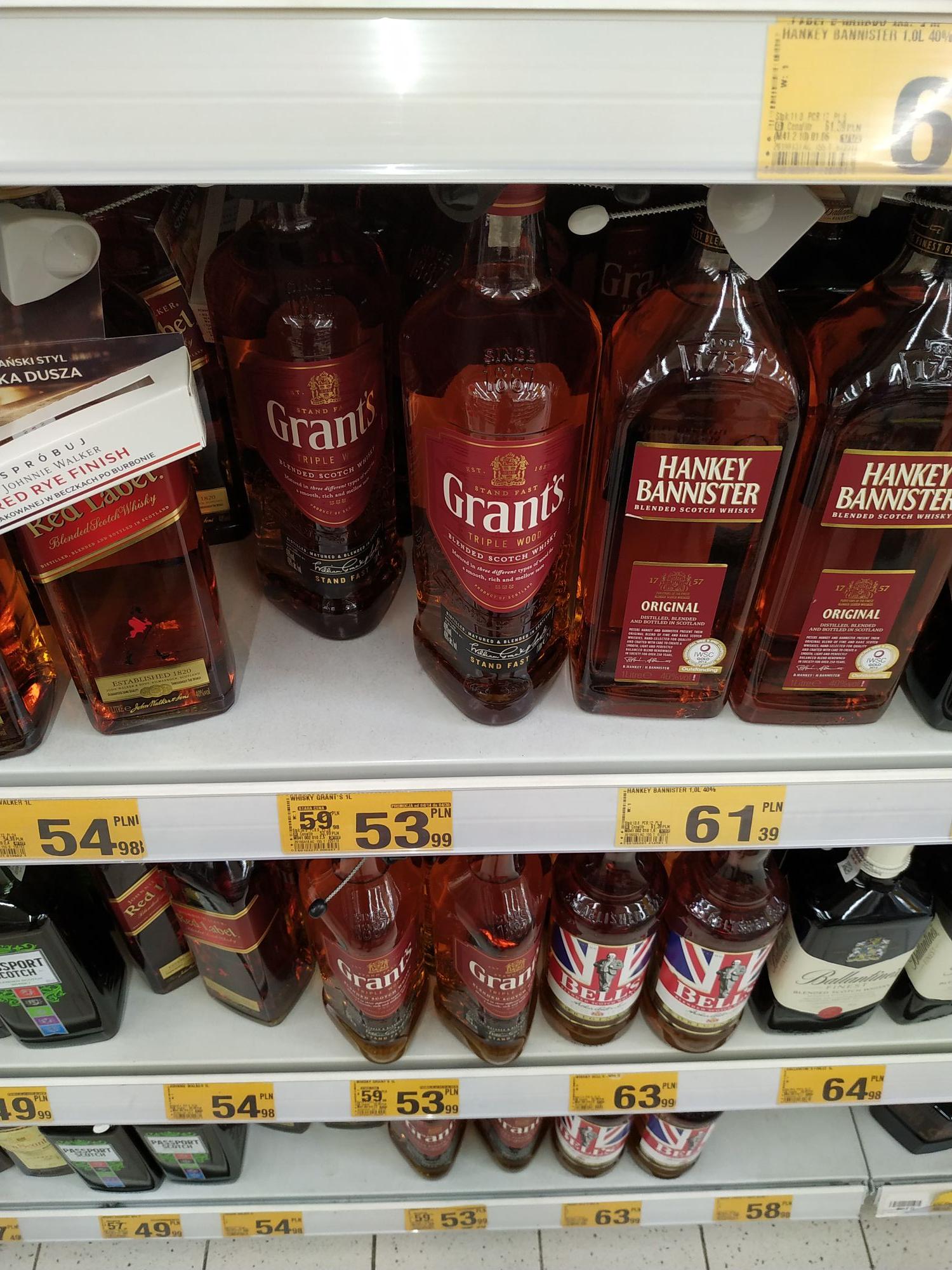 Whisky Grants 1L w Auchan