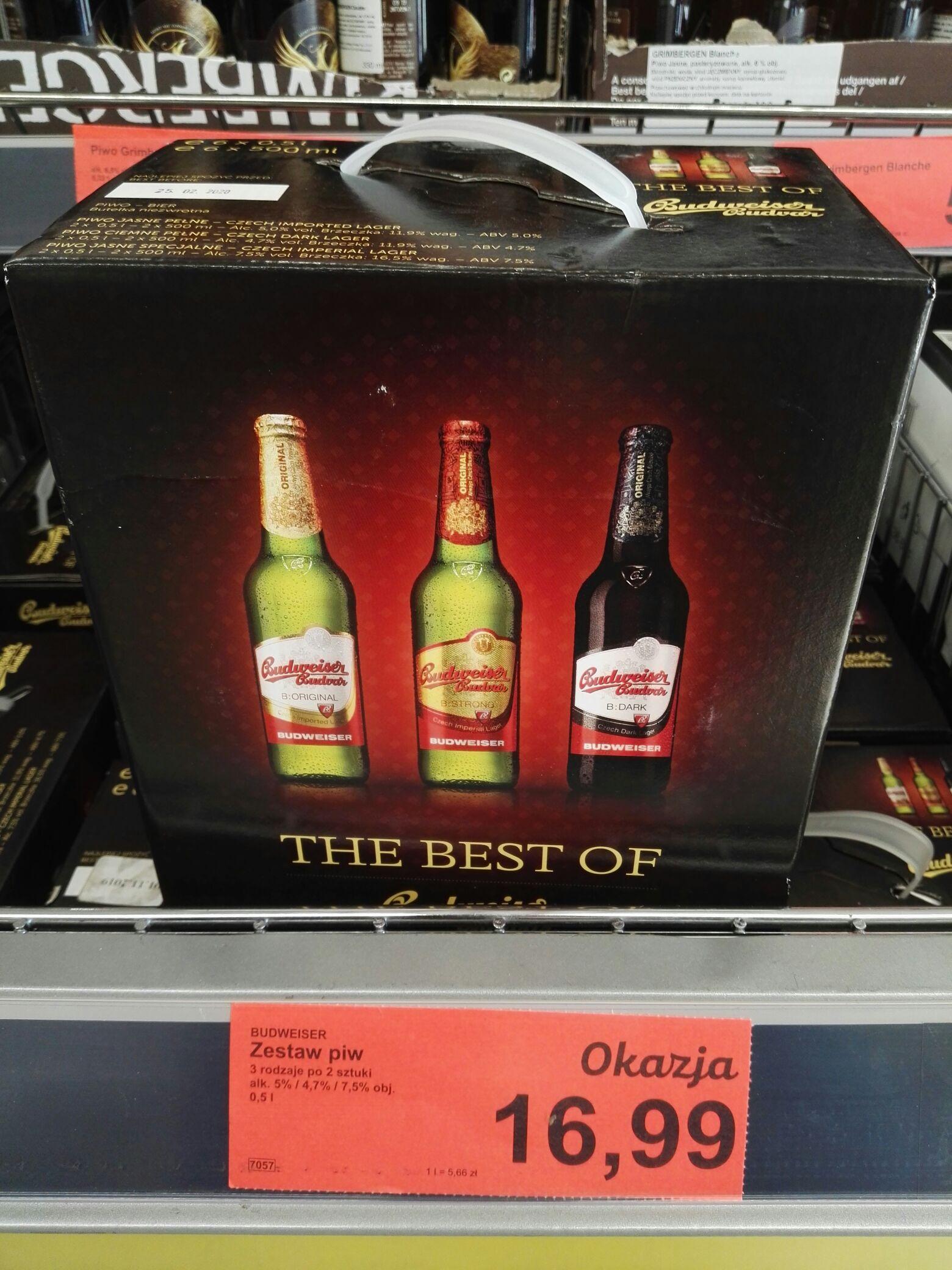 Piwo czeskie Budweiser 6 szt 0.5 l @Aldi