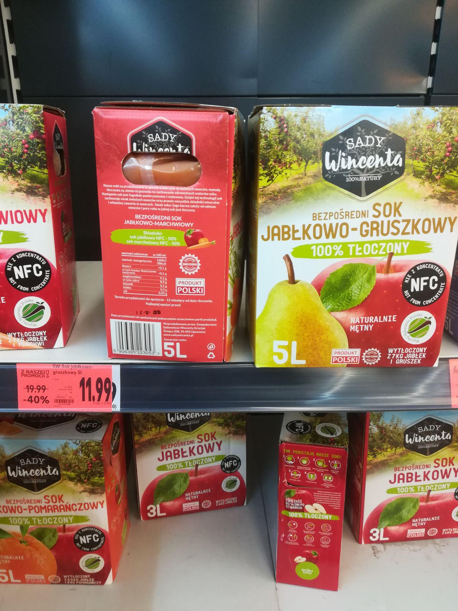 Sok jablkowy i inne 5l kaufland