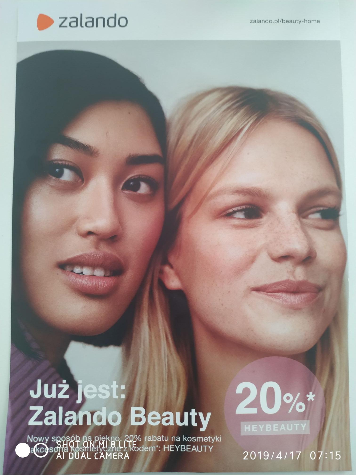 20% zniżki na kosmetyki i akcesoria kosmetyczne Zalando Beauty