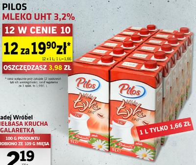 LIDL - Mleko Pilos 3,2% za 1.66/1L w dn. 11-17.01.2016