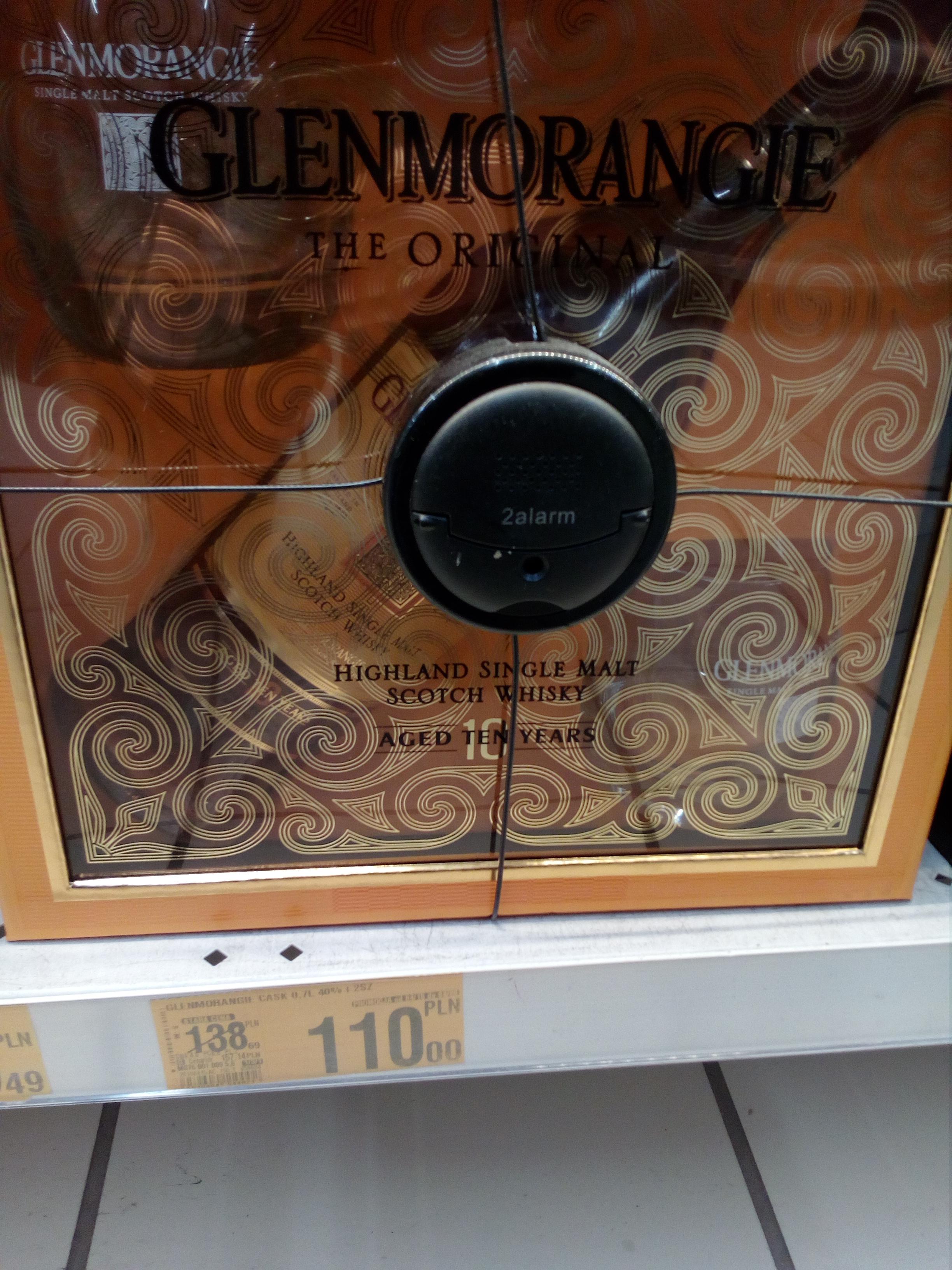 Whisky Glenmorangie 10yo single malt + 2szklanki, 0,7 Auchan Poczesna