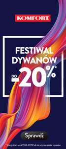 Festiwal dywanów w komfort.pl -20%