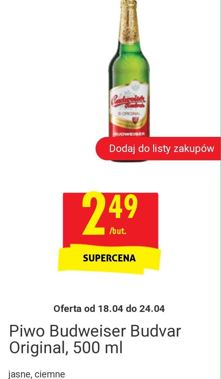 Piwo Budweiser Original i Dark @ Biedronka