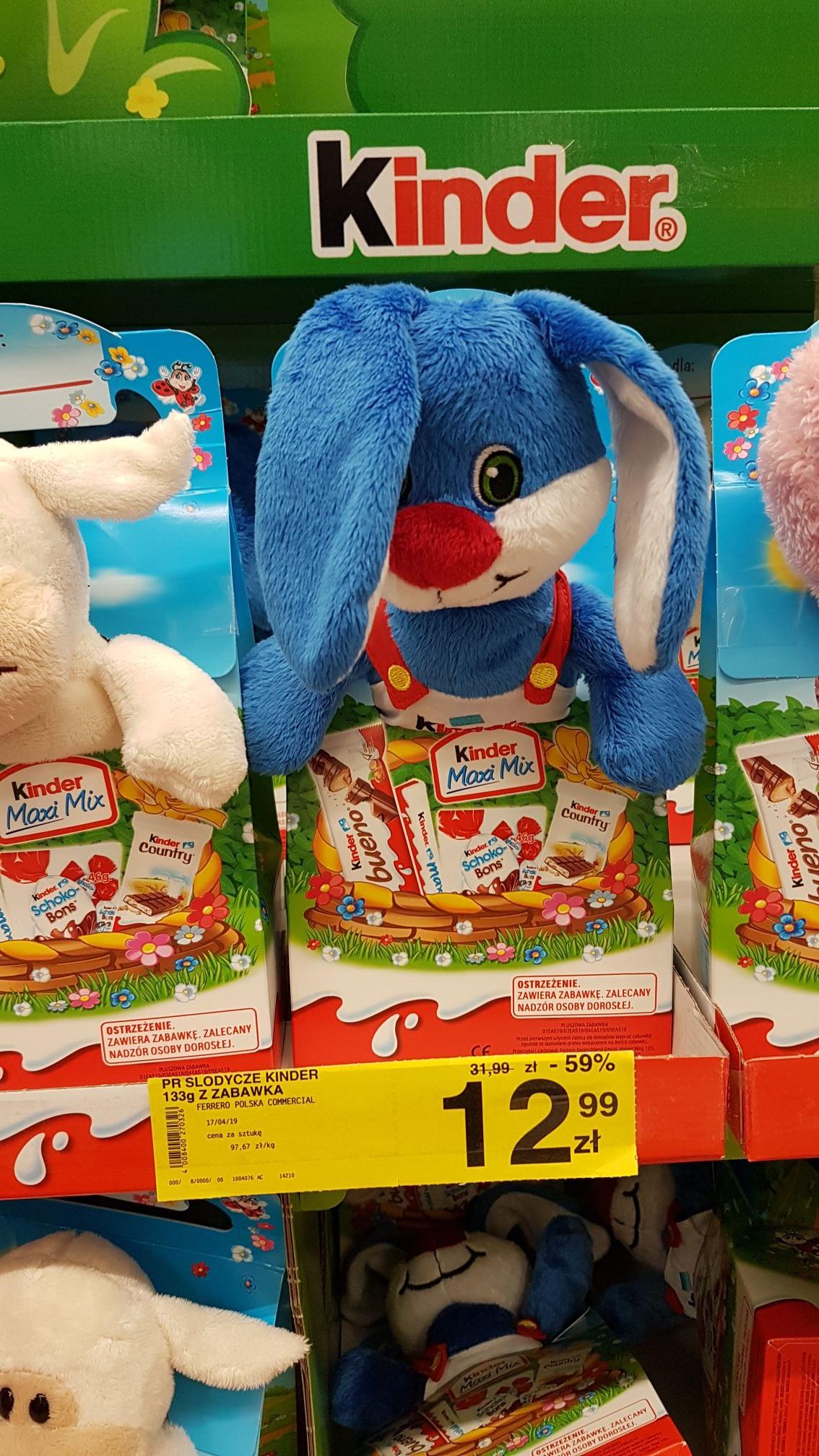 Kinder słodycze + zabawka. Carrefour CH Arkadia, Warszawa.