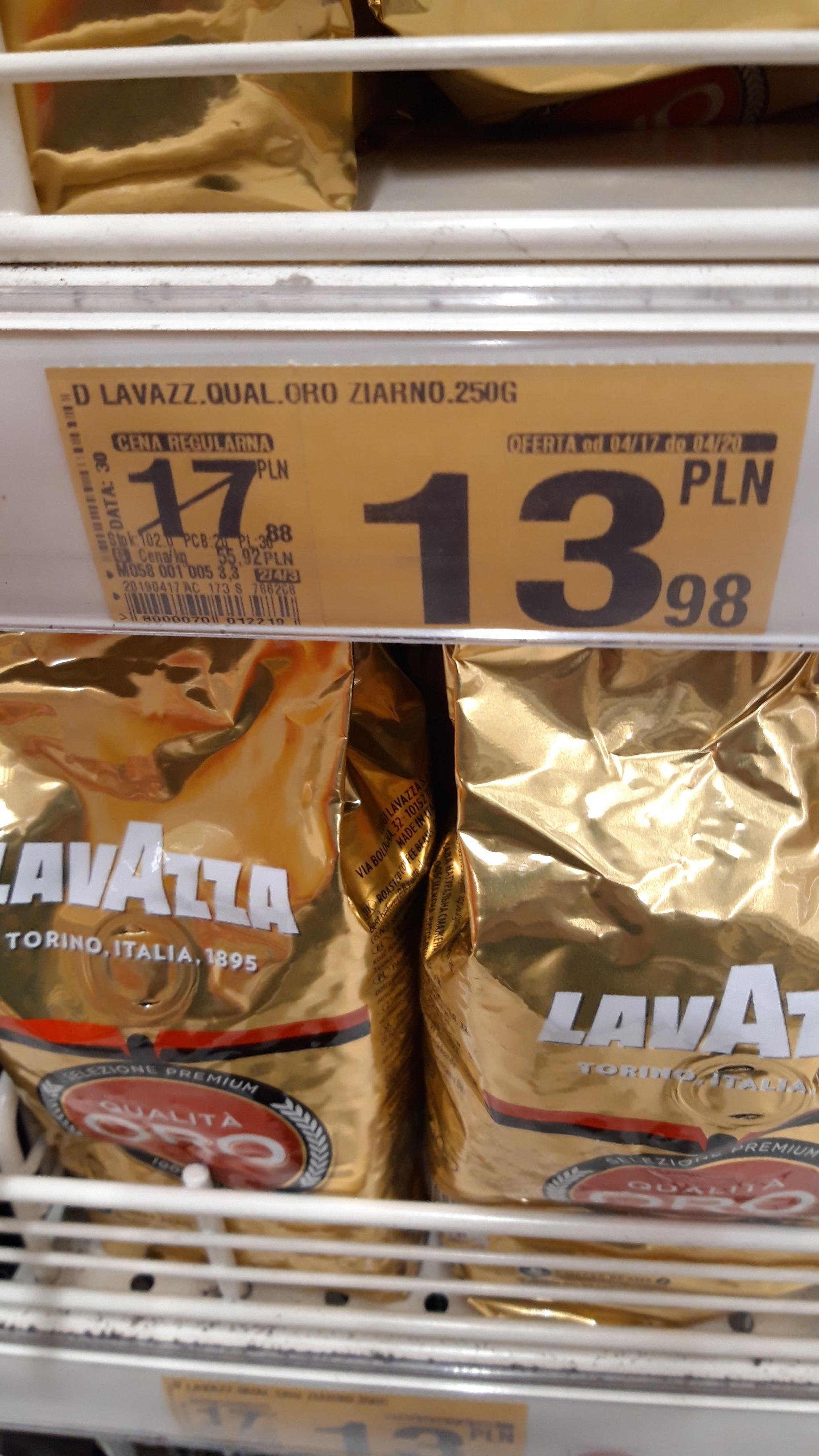 Kawa Lavazza Qualita Oro, ziarnista 250g, Auchan Białystok