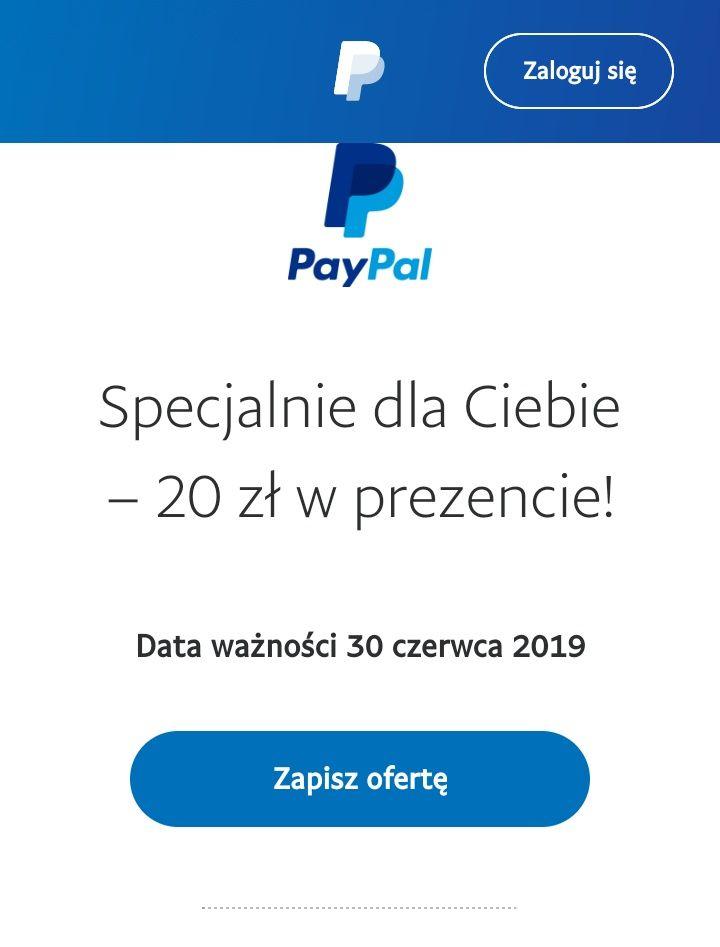 20 zł zniżki przy płatności PAYPAL bez mwz