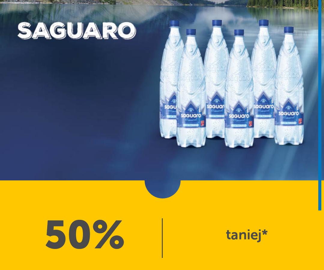 Fajna i lubiana woda lidlowska SAGUARO. Tylko 0.49 groszy przy zakupie 6 szt. LIDL PLUS