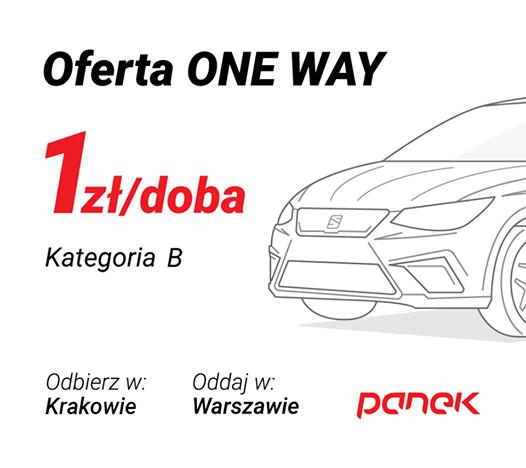 Przejazd z Krakowa do Warszawy za 1 zł i paliwem w cenie