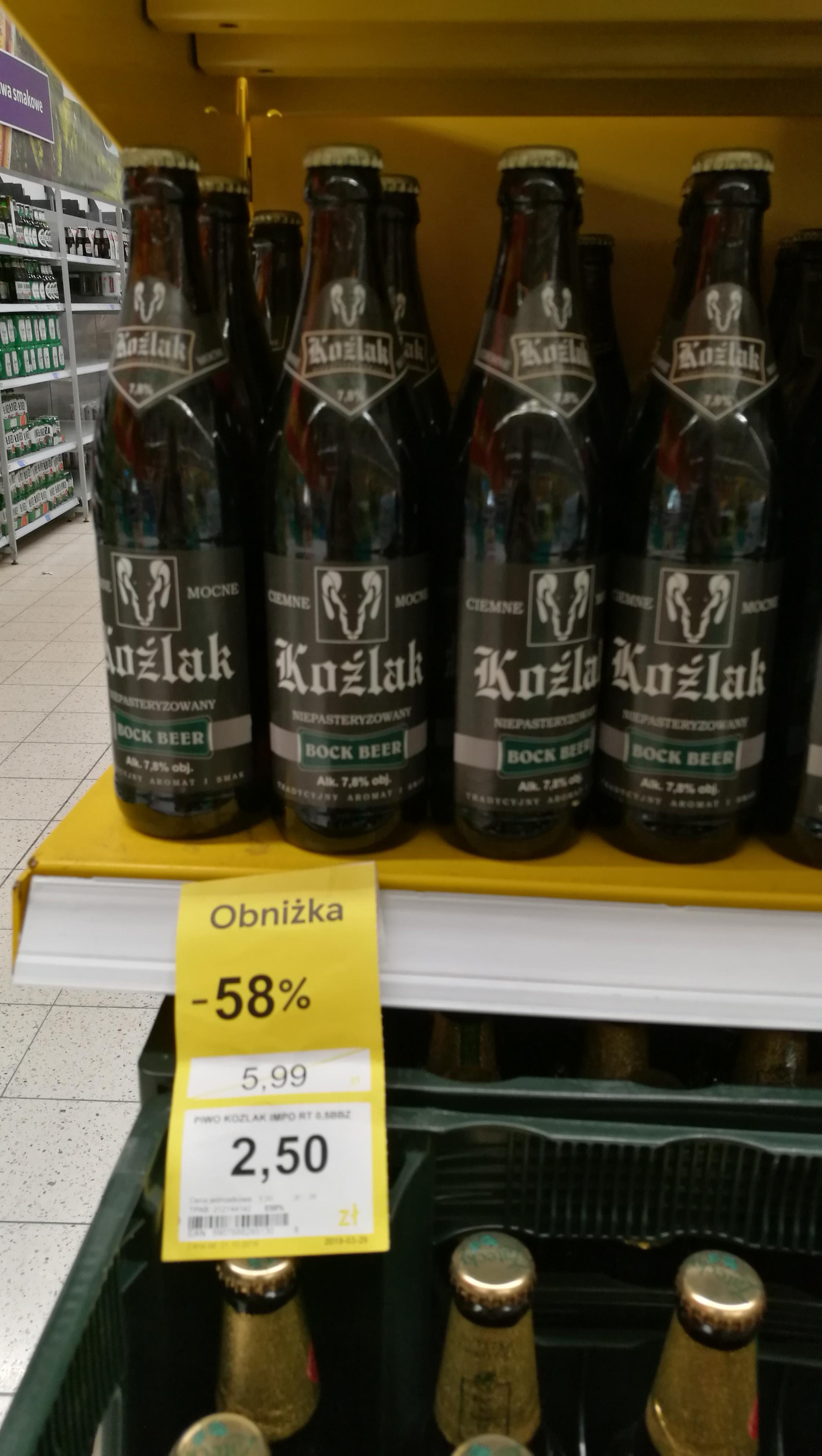 Piwo Koźlak Bock Beer Niepasteryzowany - Tesco Świdnica