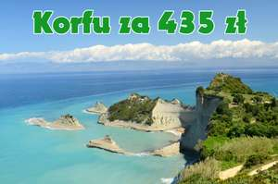 Urlop dla 4 os. na Korfu z Poznania za 435 zł/os. W cenie lot/auto z ubezpieczeniem/zakwaterowanie.