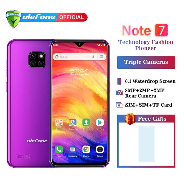 Ulefone Note 7  3500mAh, 16GB, 1 gb RAM + roczna gwarancja Allianz