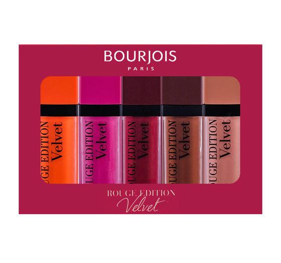 Zestaw 5 matowych pomadek w płynie Bourjois Rouge Edition Velvet 7,7 ml
