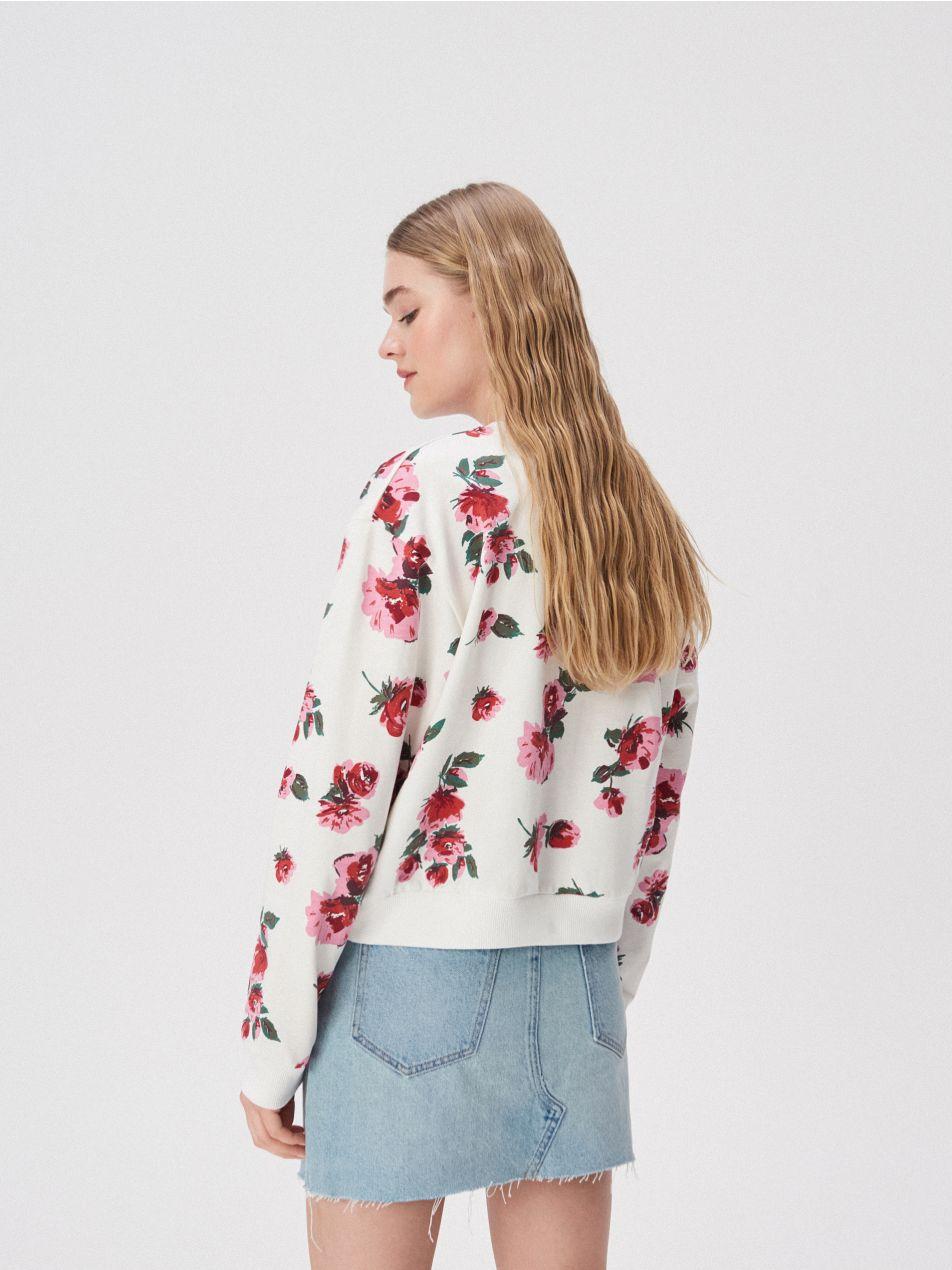 Bluza w kwiaty sinsay pełna rozmiarówka