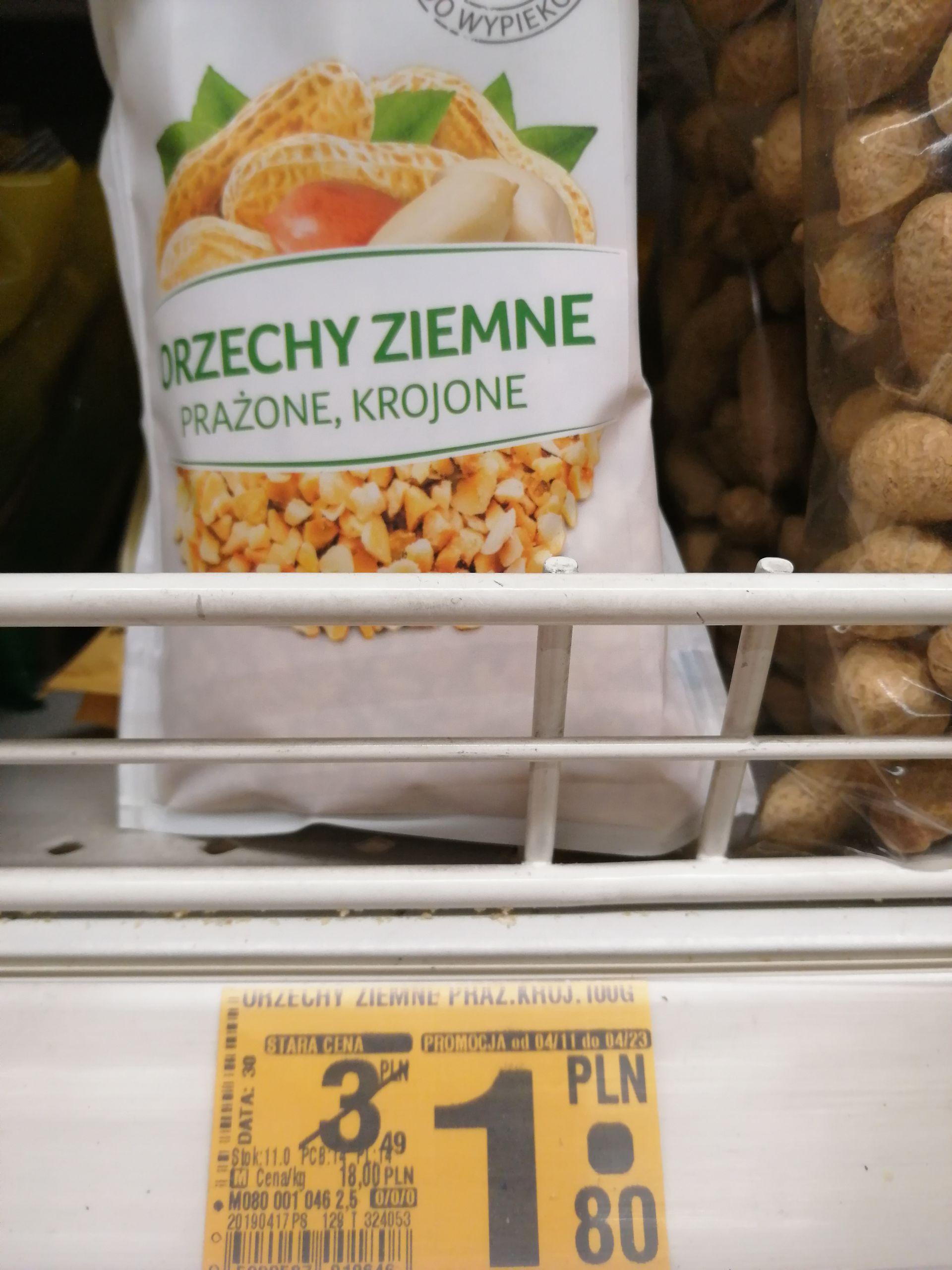 Orzechy ziemne prażone Auchan