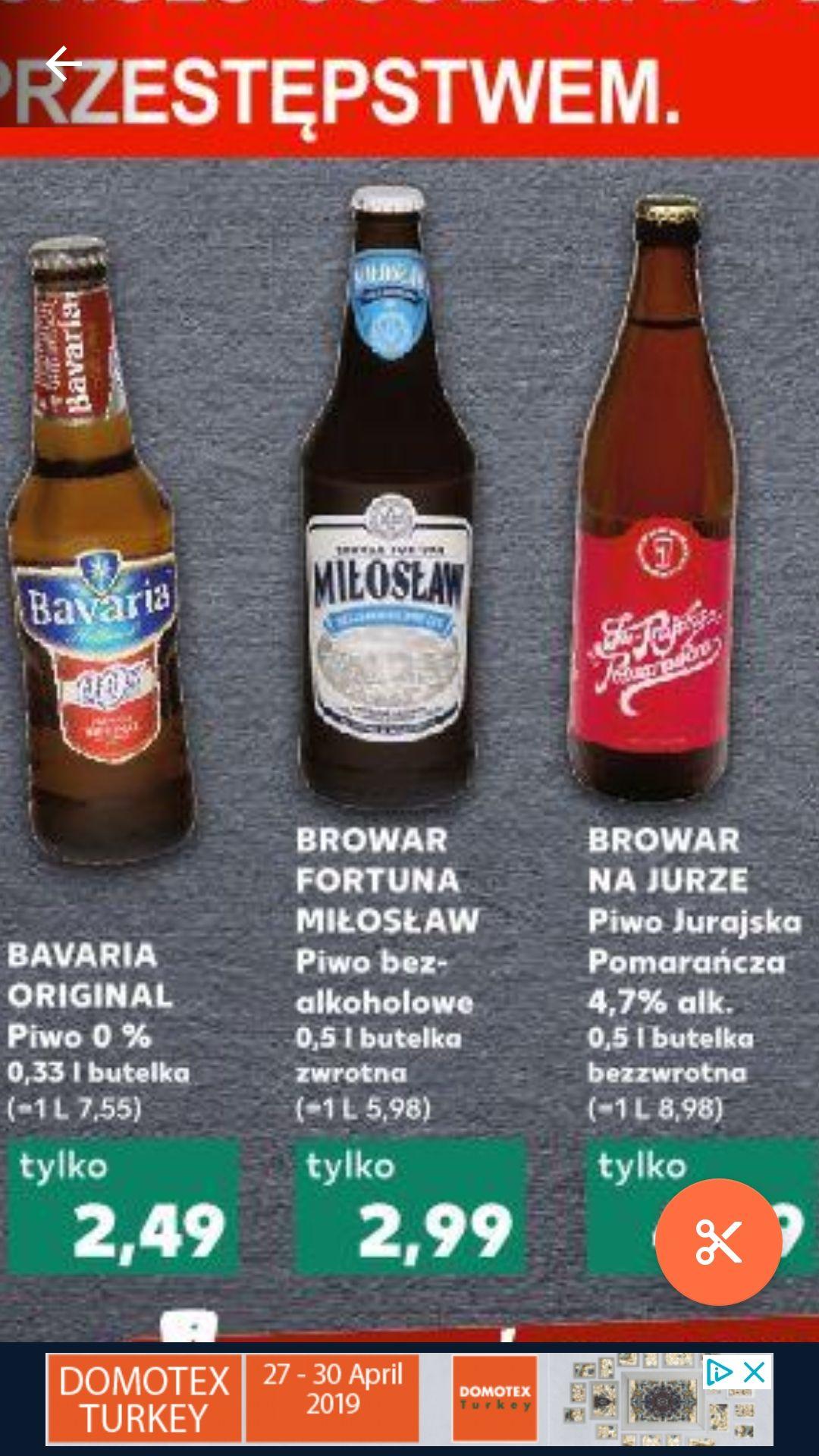 Piwo Miłosław bezalkoholowa IPA 2.99 zł / Żywiec APA 2.69 zł + inne piwa @Kaufland
