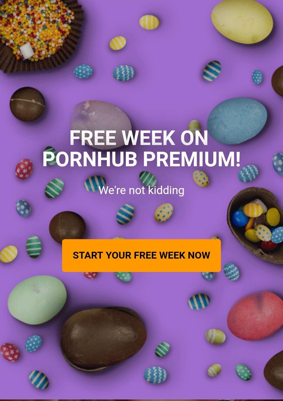 PornHub PREMIUM za darmo przez tydzień.