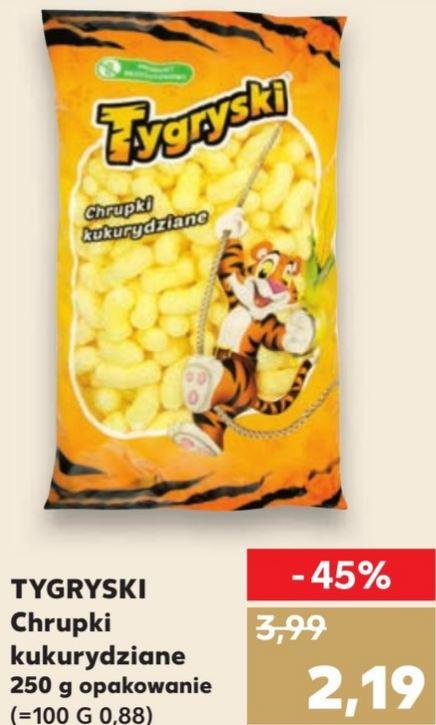 TYGRYSKI Chrupki kukurydziane 250g @ Kaufland