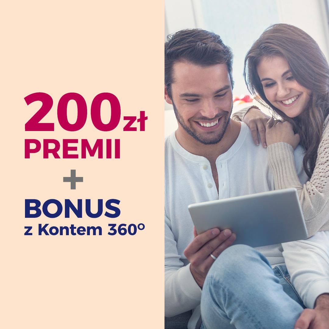 200 zł + 4 nowe bonusy za założenie Konta 360° w Banku Millennium