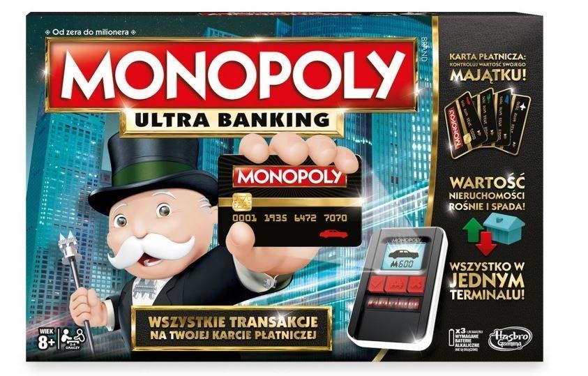 Gra Monopoly Ultimate Banking PL, dostawa full opcja za 0zł, też MONOPOLY Cheaters za 54,01zł i inne gry