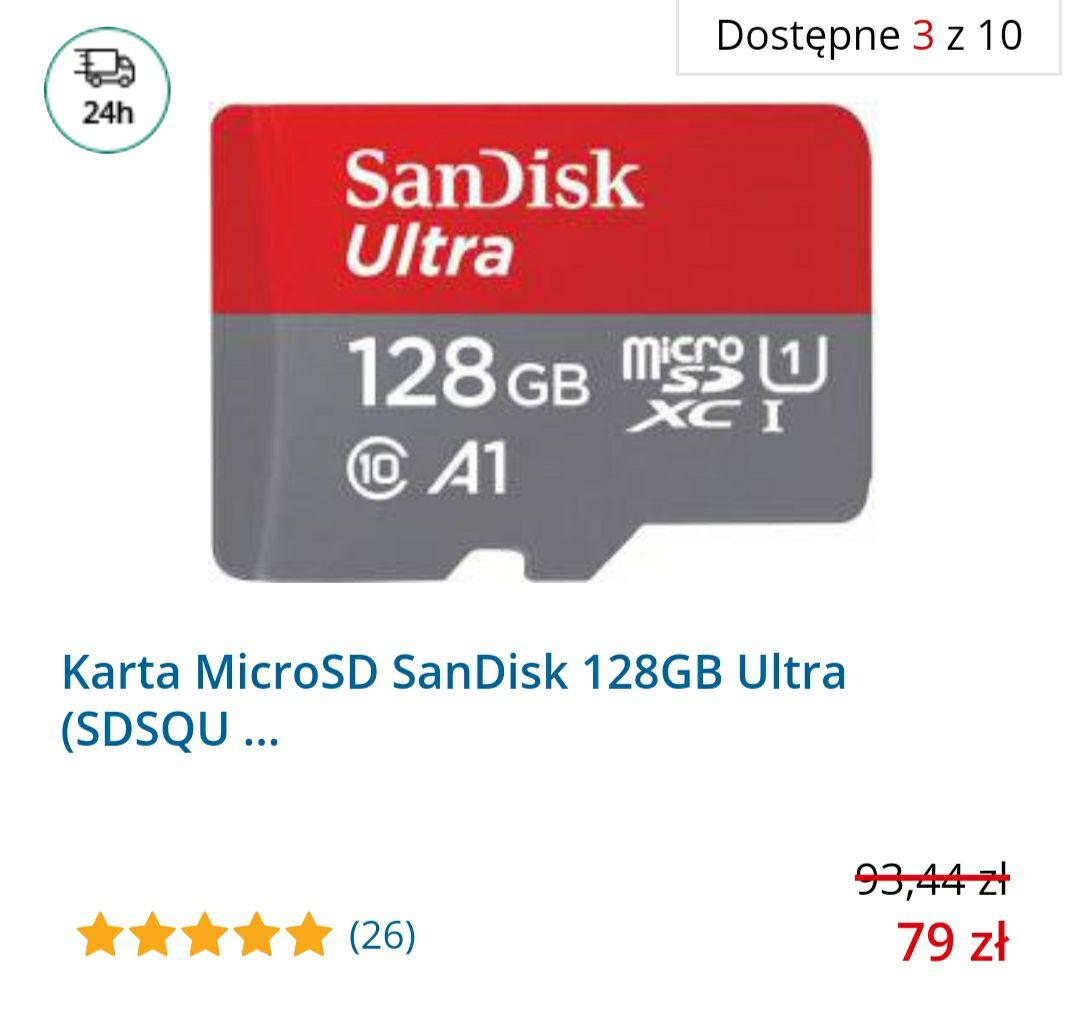 SanDisk 128GB Ultra za 79zł