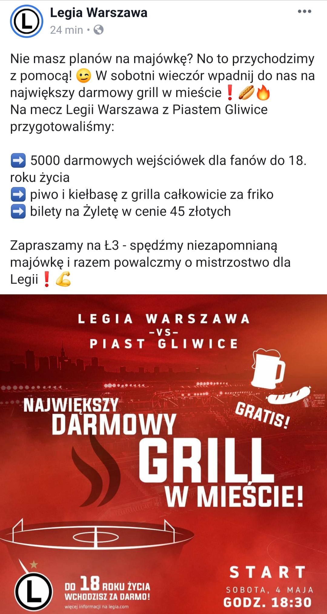 DARMOWY GRILL i PIWO NA ŁAZIENKOWSKIEJ 3