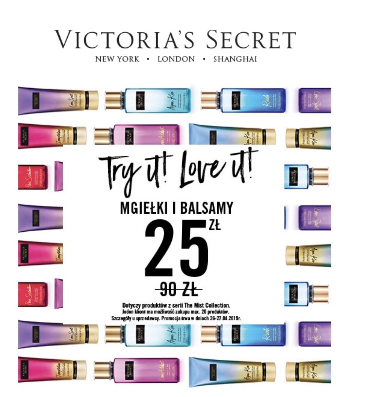 Victoria's secret - mgiełki przecenione na 25zl