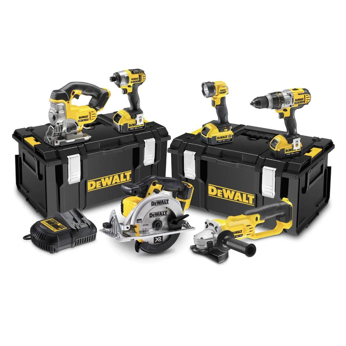 DeWalt Zestaw 6 narzędzi, 3 aku, 18V. DCK692M3