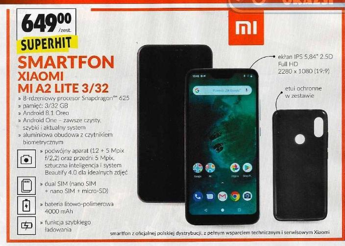 Xiaomi MI A2 Lite 3/32 @Biedronka