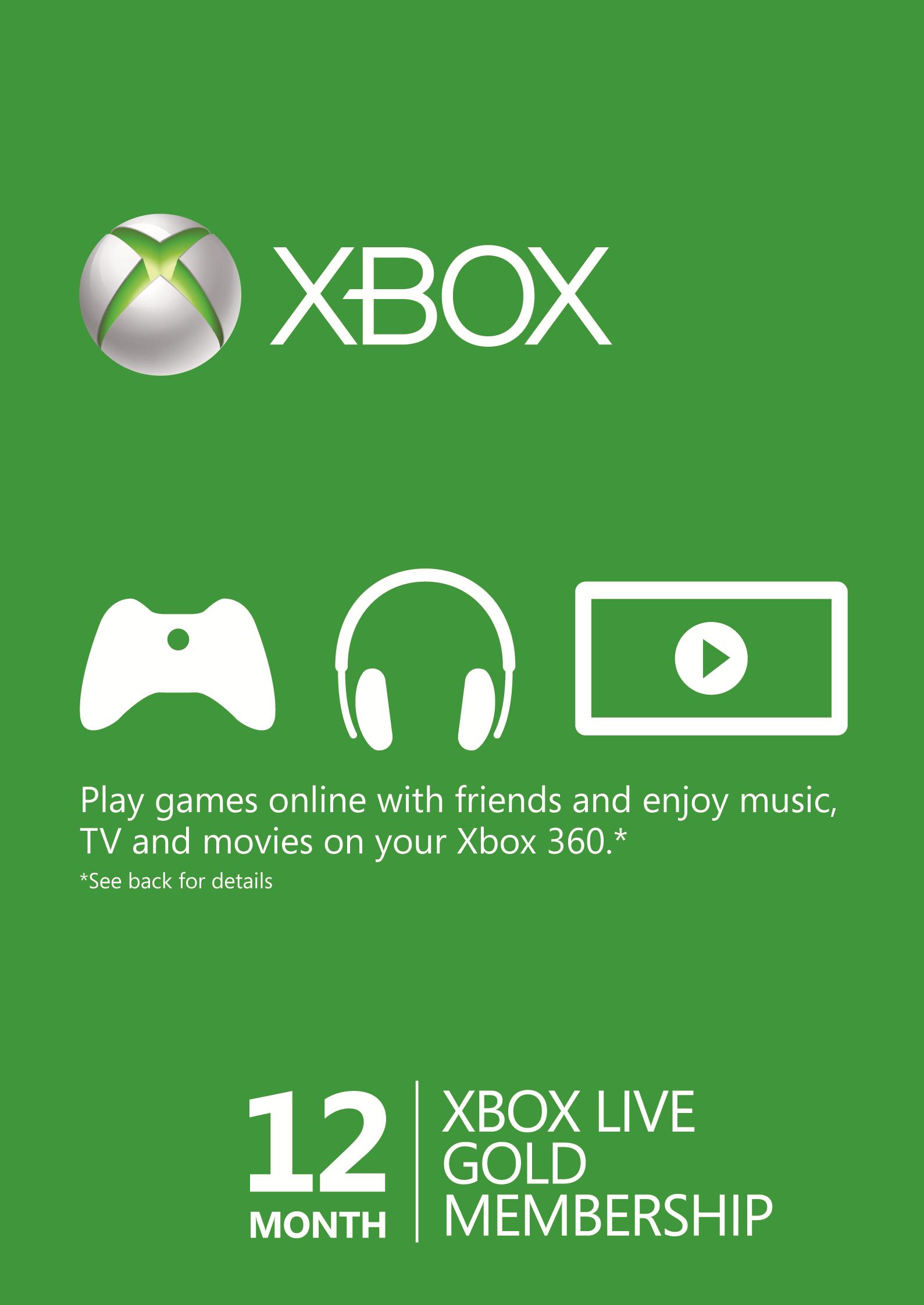 XBOX LIVE GOLD 12 Miesięcy