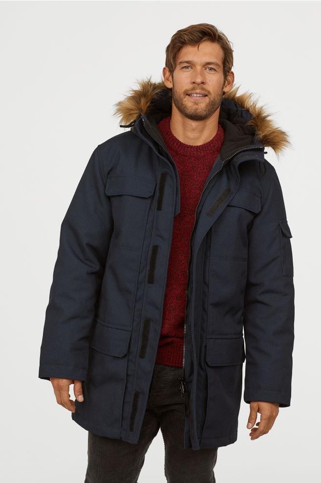Męska, ocieplana kurtka z kapturem za 149,90zł (rozm.S-XXL) @ H&M