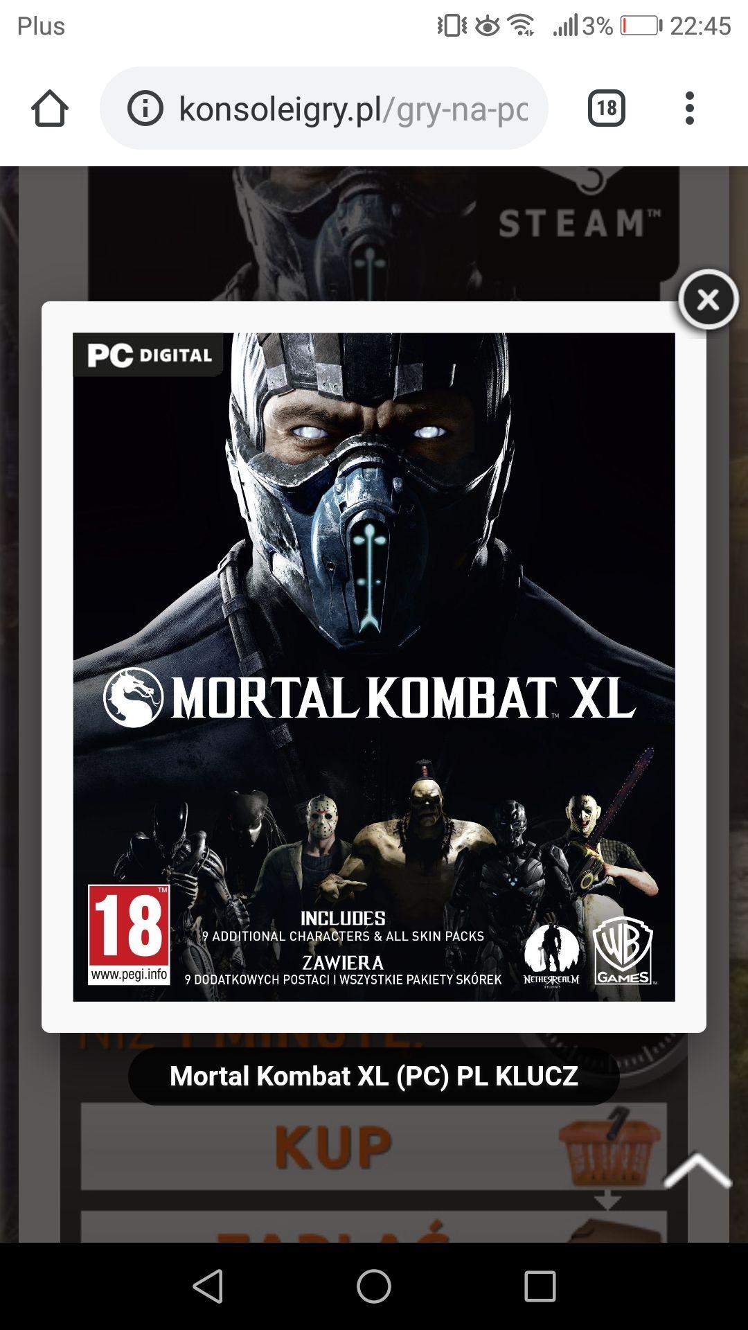 Mortal kombat XL na konsoleigry. Pl steam PC