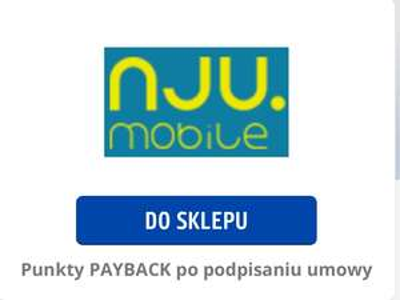 NJU Mobile 6876pkt [68.76PLN]Payback za umowe