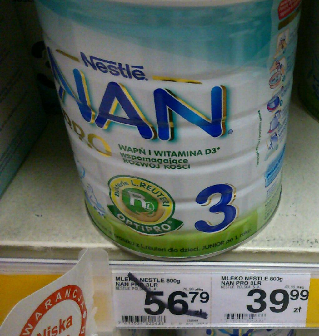 mleko nan pro3 w Carrefour