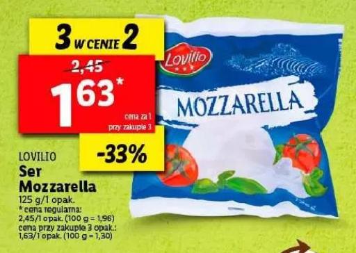 Ser Mozzarella 125g Lidl