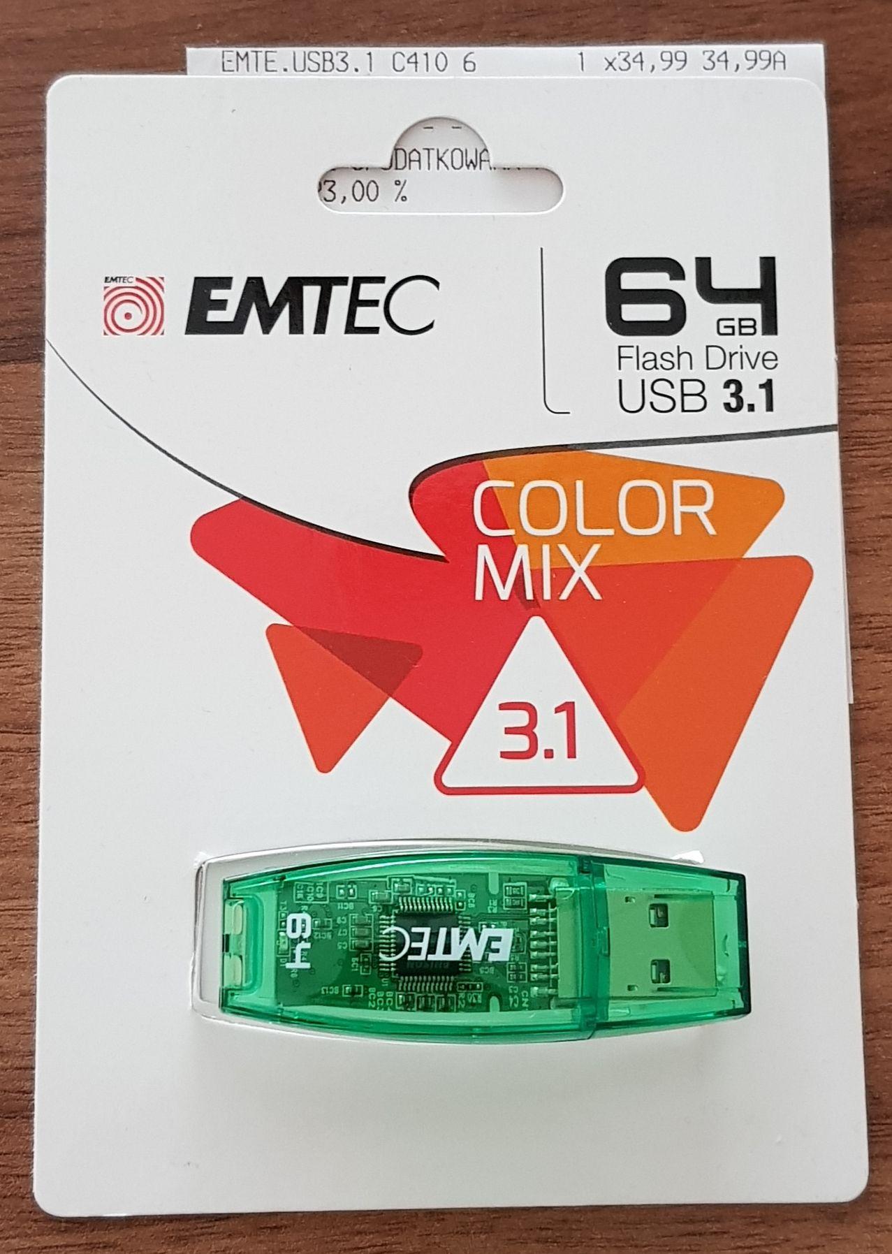 Pendrive Emtec 64GB usb 3.1 lub 3.0 Auchan Olsztyn