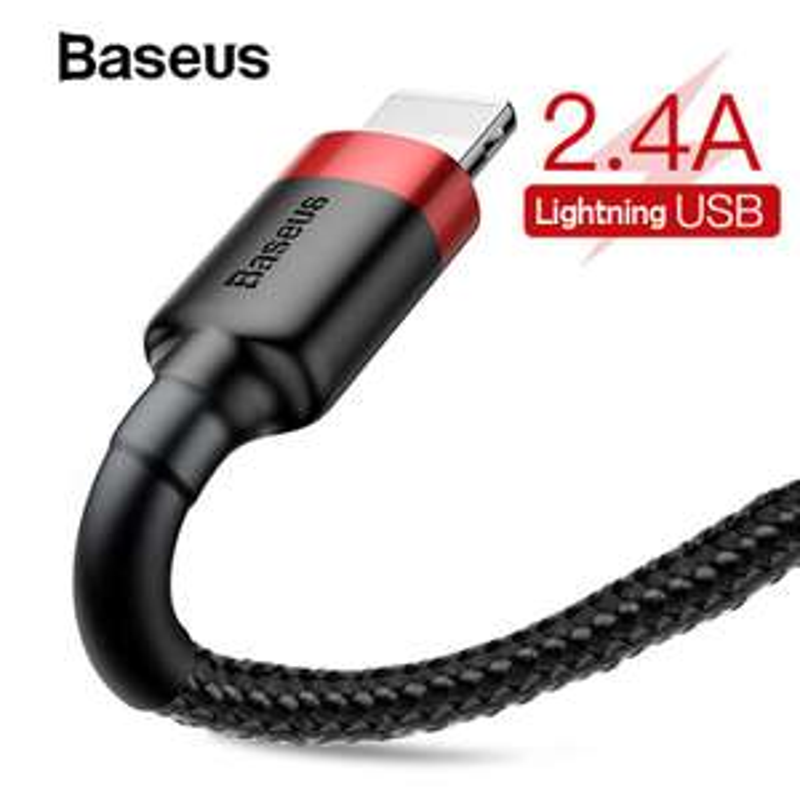 baseus kabel w oplocie 1m do iPhone za 1.71$( kupon sklepowy   2/4$)