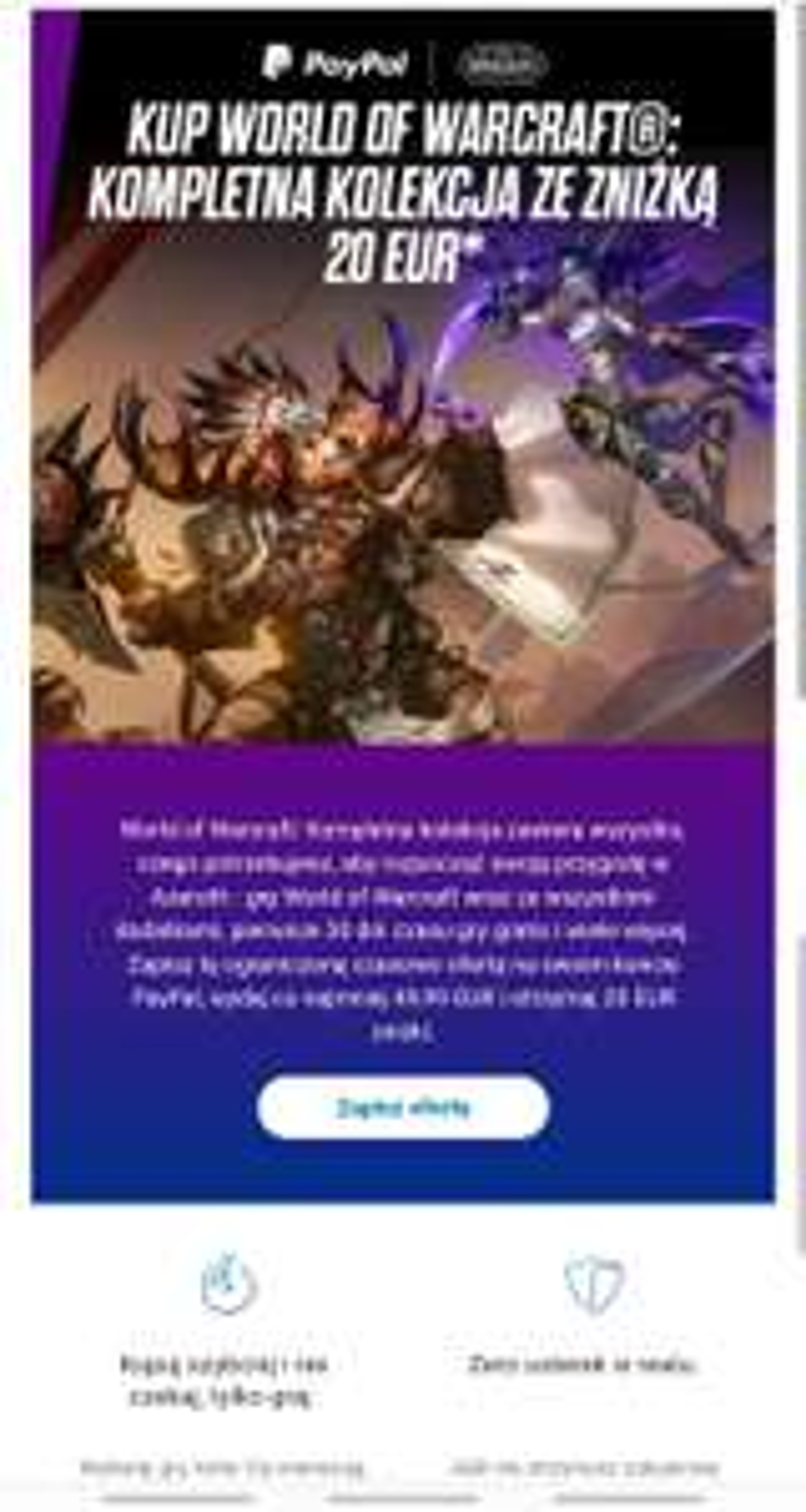 World of Warcraft®: Kompletna kolekcja –  20 EUR taniej płacąc PayPal |MWZ 49.99 EUR