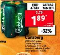 Piwo Carlsberg 500 ml puszka @Lidl
