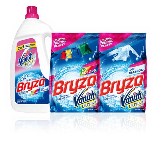 Zwrot pieniędzy za zakup produktów marki BRYZA Vanish Ultra