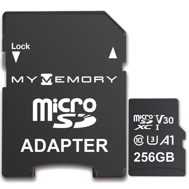 Karta pamięci MyMemory 256GB V30 PRO Micro SD (SDXC) A1 UHS-1 U3 + Adapter - 100MB/s
