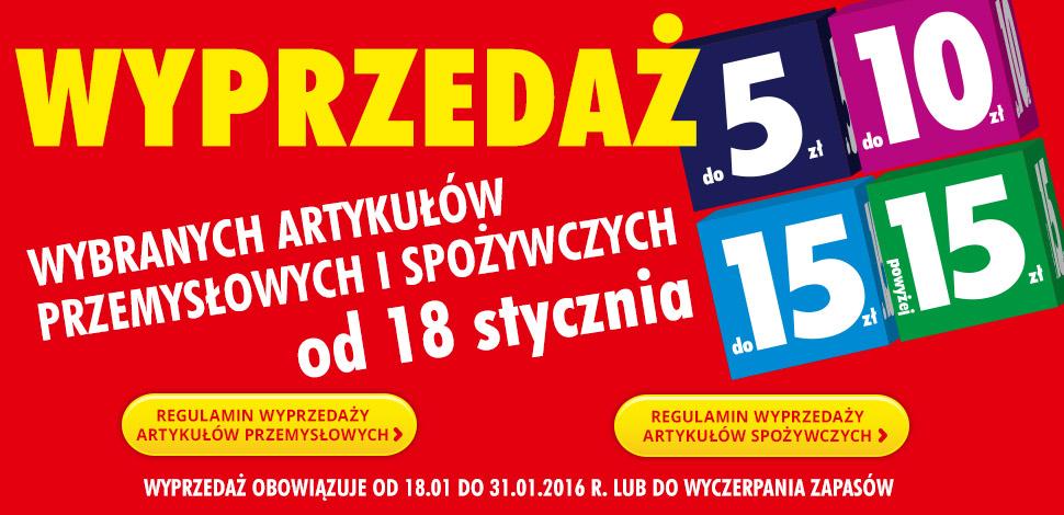 Wyprzedaż artykułów przemysłowych i spożywczych  @ Biedronka