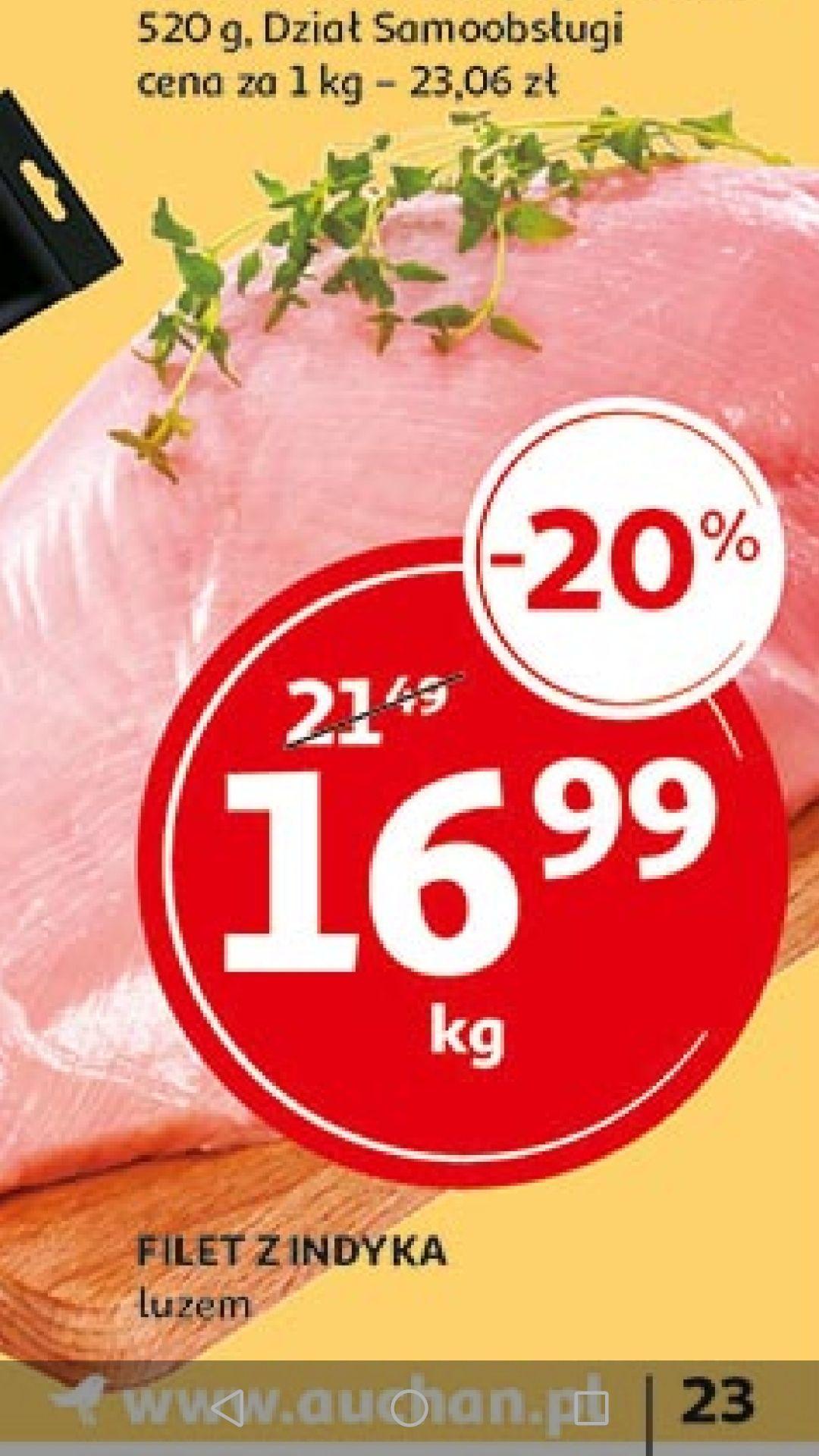Filet z indyka luzem Auchan ogólnopolska