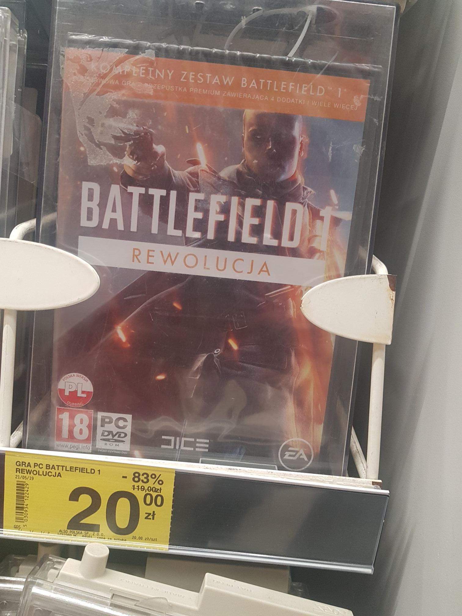Battlefield 1 pc (wersja pudełkowa) Carrefour Tczew