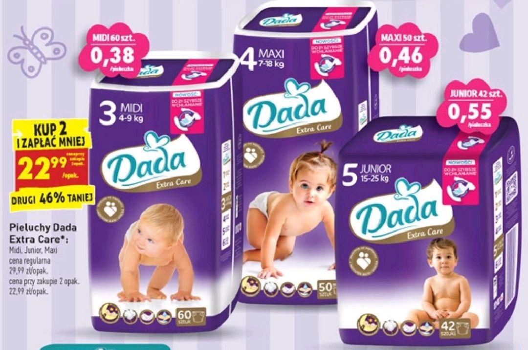 Pieluchy Dada Extra Care promocja przy zakupie 2 opakowań Biedronka