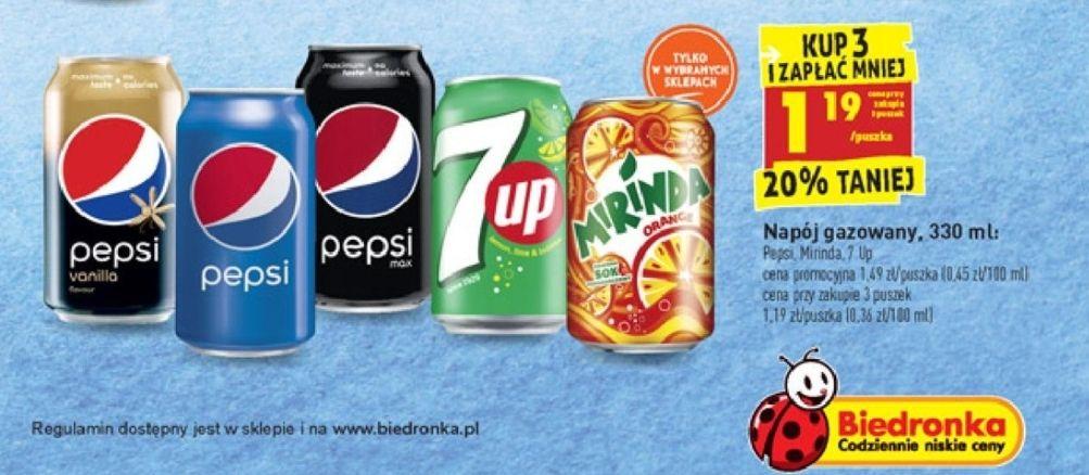 Pepsi puszka za 1,19 & 4x1,75L za 8,76